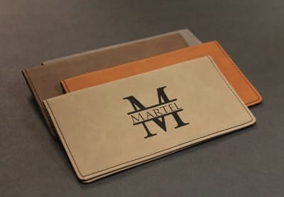 Monogrammed Checkbook Cover