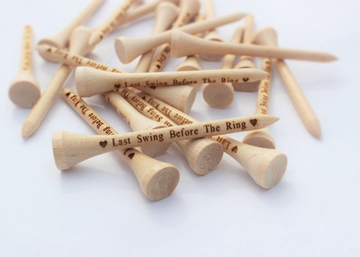 Personalized Wedding Golf Tees